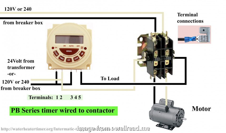 wiring a switch contactor time clock, contactor wiring diagram diagrams  schematics a wiring a switch