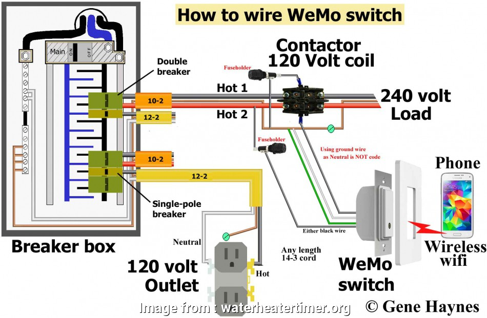 wiring a switch contactor use wiring diagram shown above  override wemo switch  wiring a switch