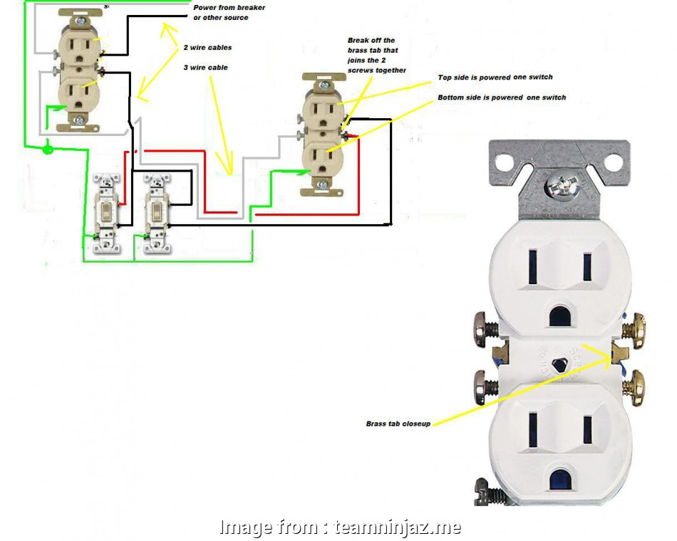 Wiring A Switched Outlet In Series Perfect Disposal Wiring