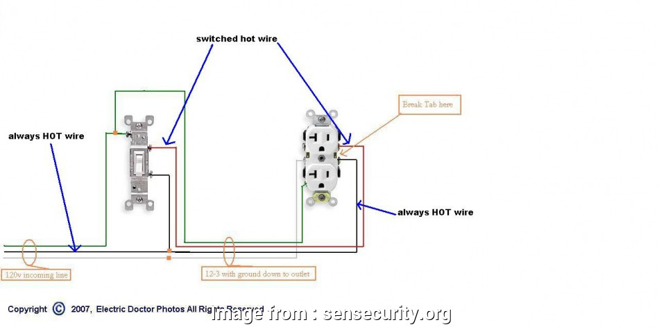 Wiring A Switched Outlet In Series Practical Problem Replacing A Half  Receptacle Please Help