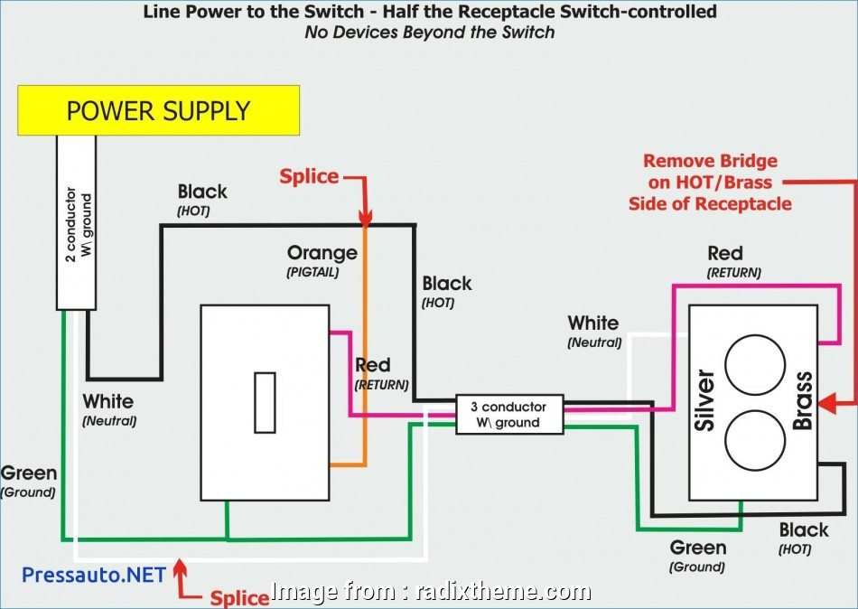 Wiring Diagram Light Switch And Receptacle from tonetastic.info
