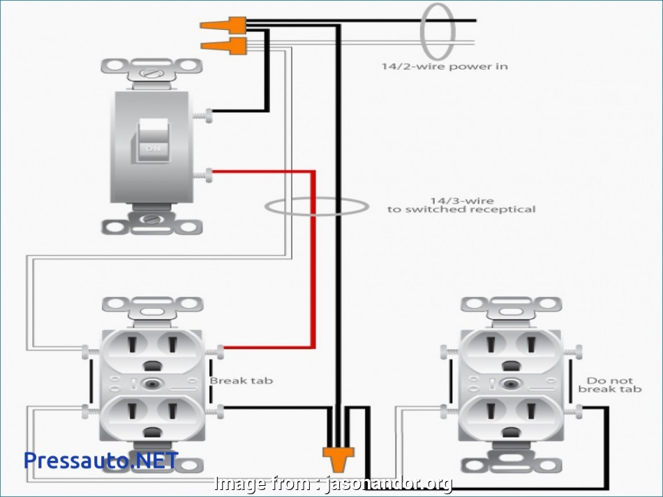 Wiring A Switched Outlet Wiring Diagram  Power To Receptacle Top Unique Wiring Diagram  Switch