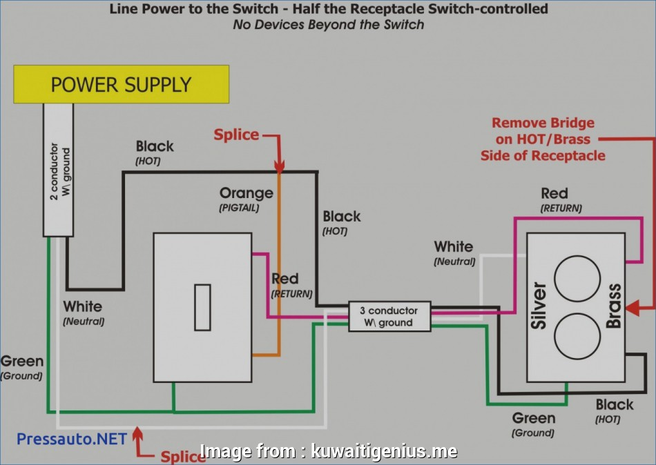 Outlet With Gfci Switch Wiring Diagram. Switch Controlled ... on