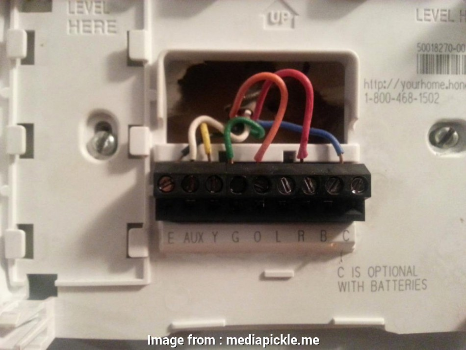 Wiring Diagram  Honeywell Rth3100c Thermostat Simple