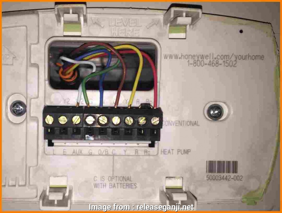Wiring Diagram  Honeywell Rth3100c Thermostat Top