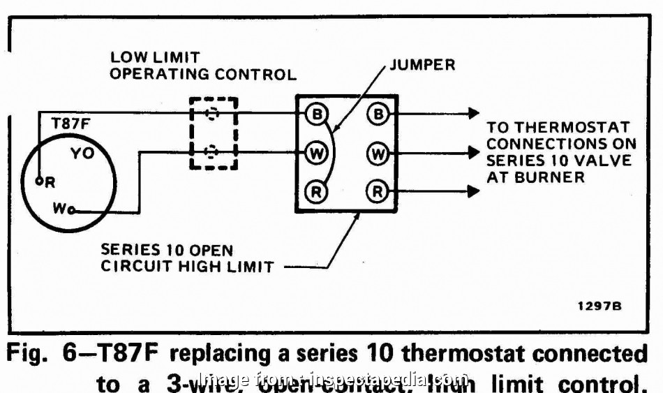 wiring diagram of thermostat 3-Wire High Limit Honeywell T87F Thermostat wiring diagram 16 Creative Wiring Diagram Of Thermostat Photos
