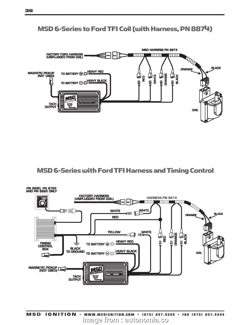 Wiring Diagrams  Msd  Ignition Perfect Edelbrock  6al