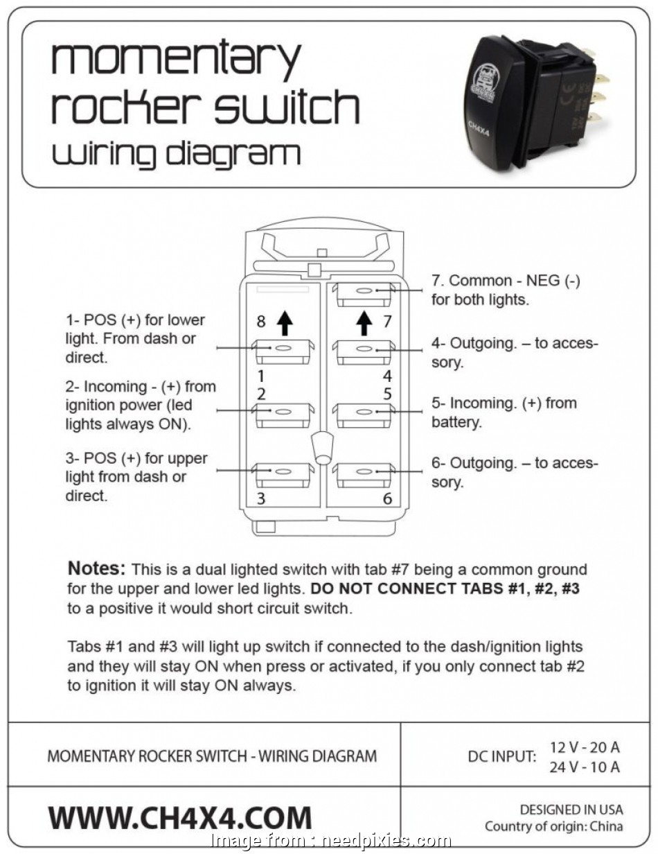 Wiring  Pin Rocker Switch Popular Wiring Diagram Winch