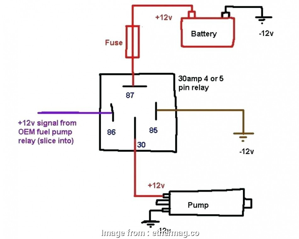 Wiring, Pole Switch Professional 12V Relay Wiring Diagram 5 ... on