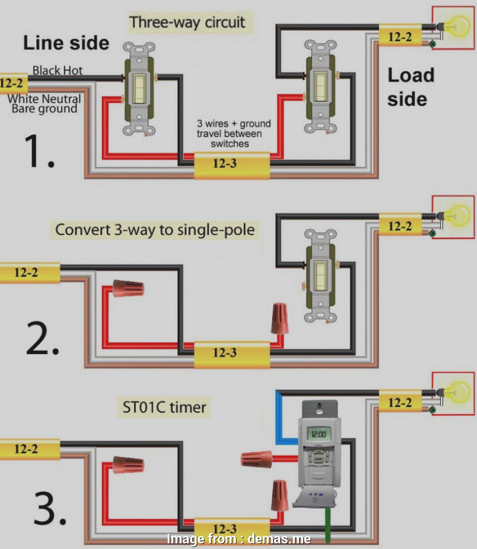 2 Single Pole Switch Wiring Diagram from tonetastic.info