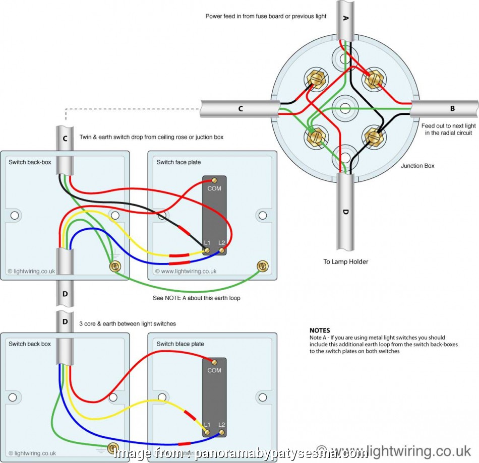wiring a 3 way switch in a junction box 3, Switching From Junction, In Electrical 2 Switch Wiring Diagram 17 Creative Wiring, Way Switch In A Junction Box Collections