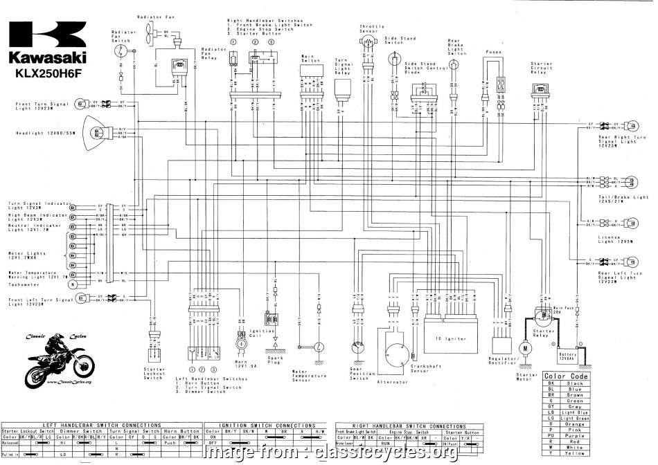 Yamaha Rs  Electrical Wiring Diagram New Kawasaki Klx250  250 Electrical Wiring Harness Diagram