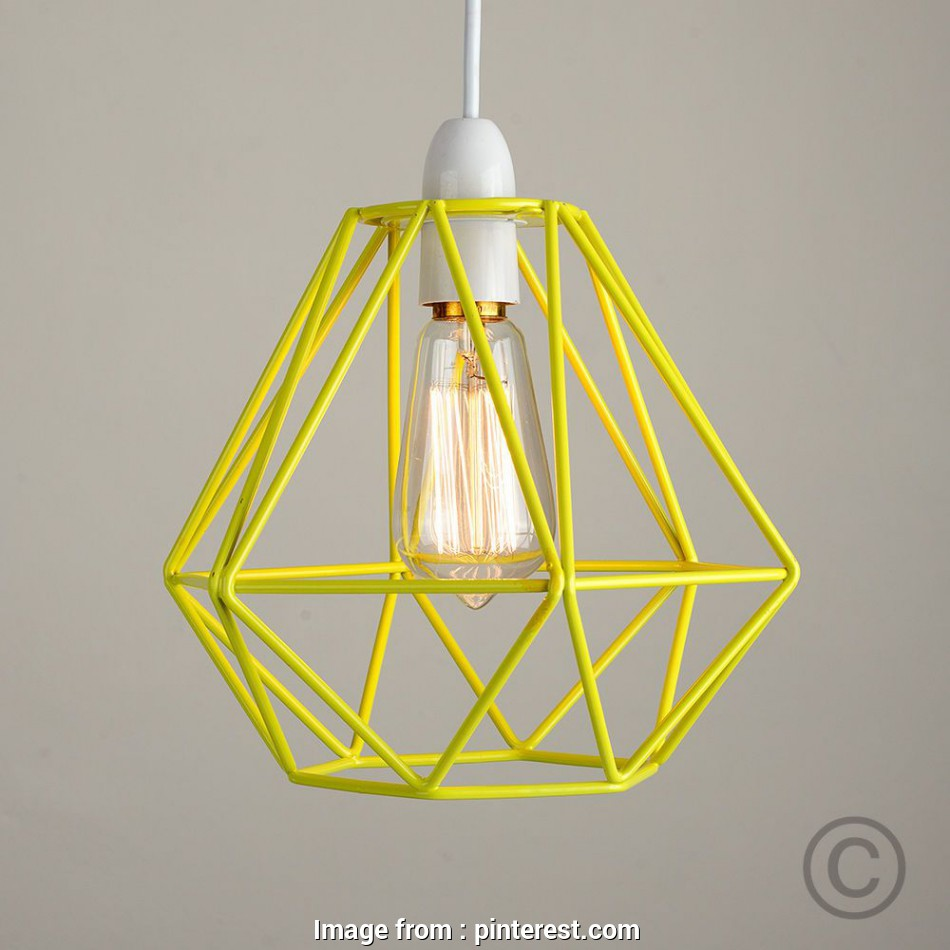 yellow wire pendant light Modern Yellow Metal Wire Frame Ceiling Light Pendant Shade Industrial Lightshade in Home, Furniture & DIY, Lighting, Ceiling Lights & Chandeliers, eBay 19 Best Yellow Wire Pendant Light Solutions