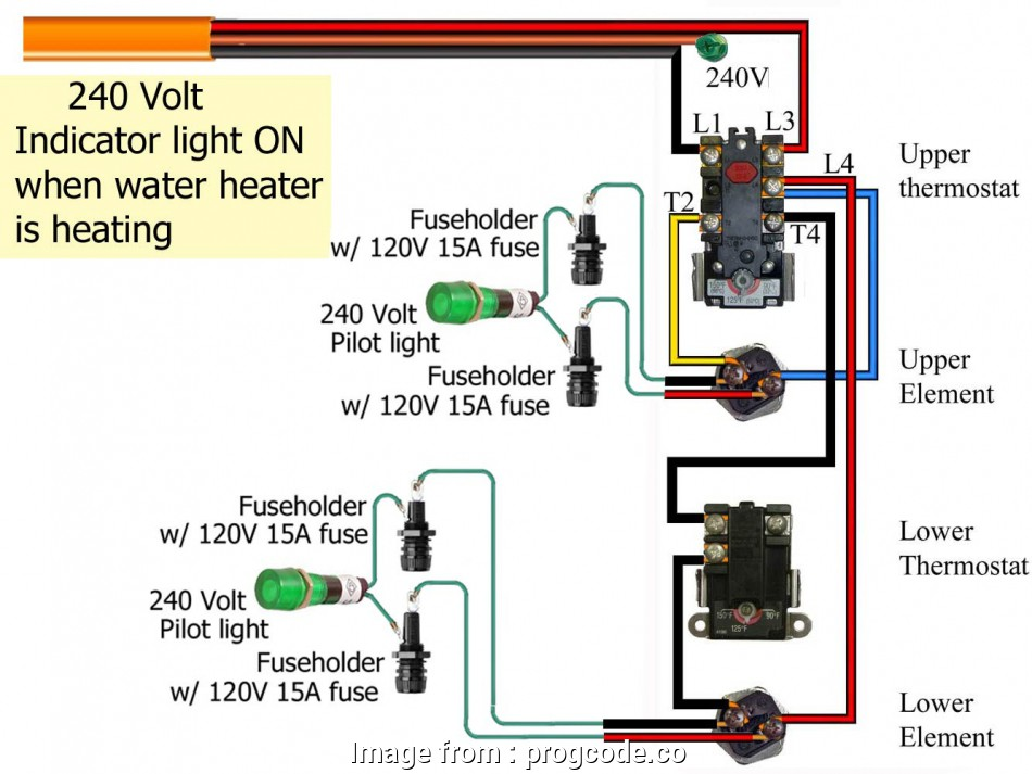 Electric Hot Water Heater Thermostat Wiring Diagram from tonetastic.info