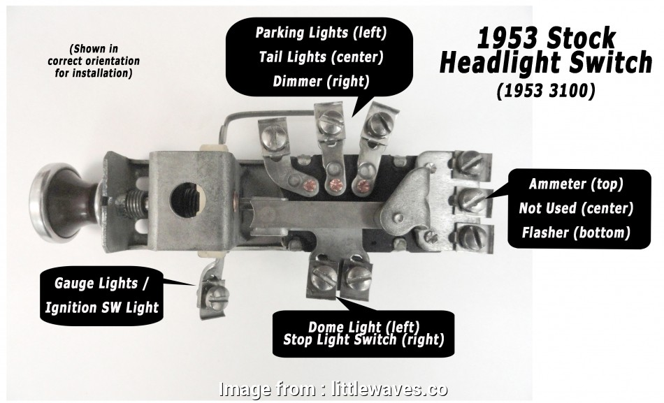1955 Chevy Light Switch Wiring New 1955 Chevy Truck