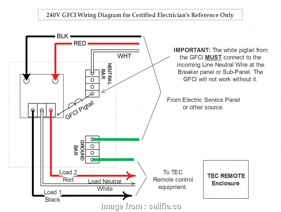 240 Volt Gfci Wiring Diagram Popular Double Pole Gfci Breaker Wiring Diagram  Free Image About
