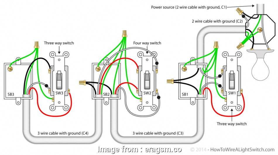 3 Gang  Way Light Switch Wiring Diagram Practical     3