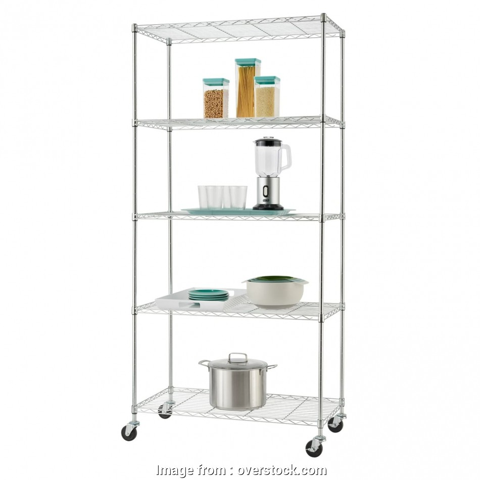 5 Tier Wire Shelving Rack Professional Shop Trinity