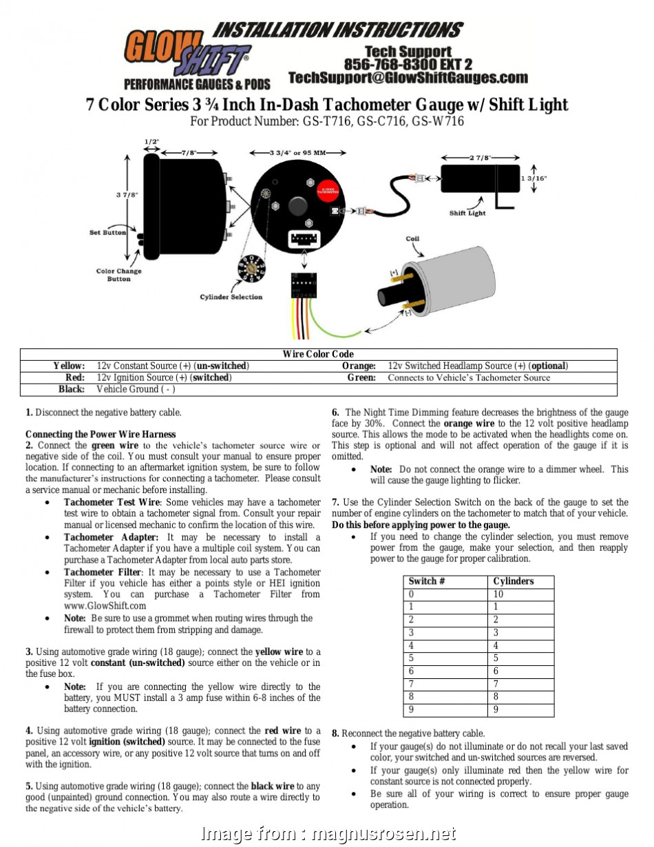 8 Gauge Wire Conversion To Mm Fantastic Glowshift Boost Gauge Wiring Diagram  Glowshift Boost