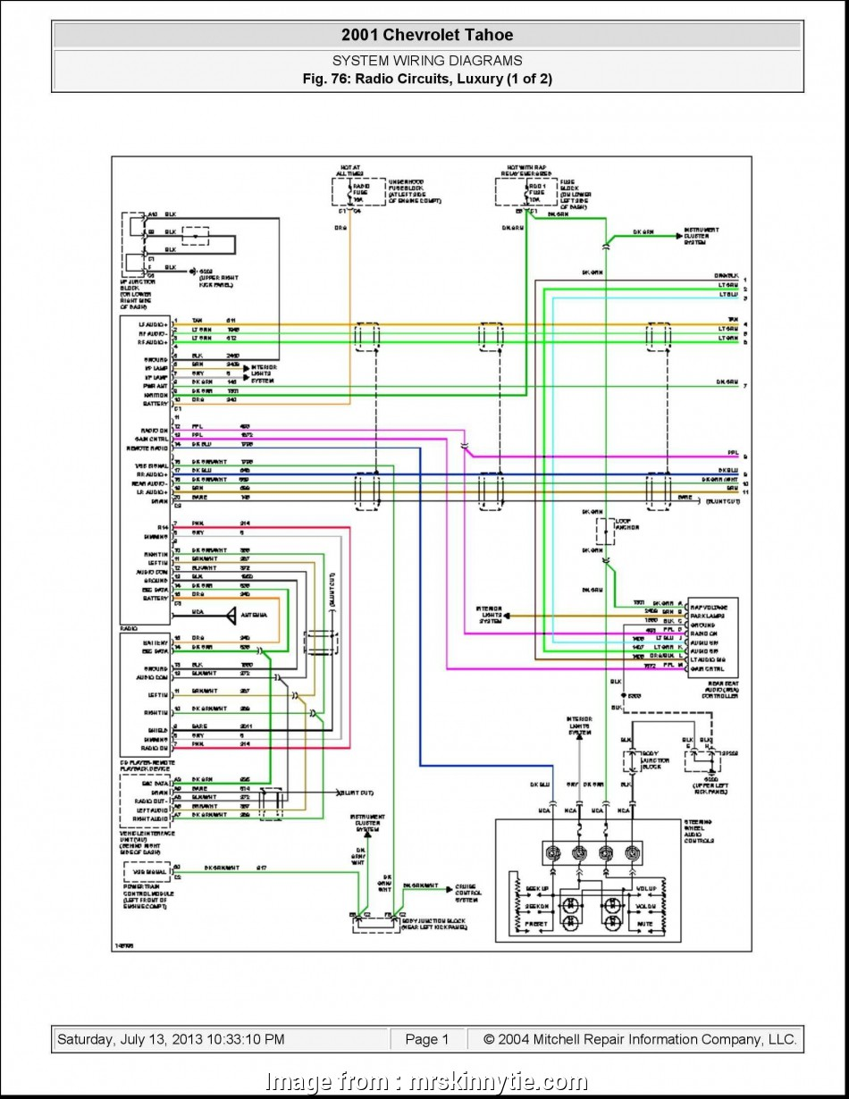 97 Tahoe Starter Wiring Diagram New 1985 Chevy  Radio
