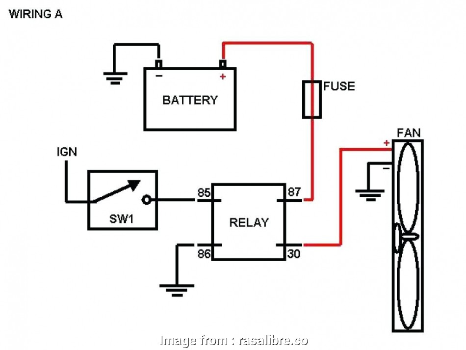 Automotive Cooling  Relay Wiring Diagram Cleaver Fan Relay