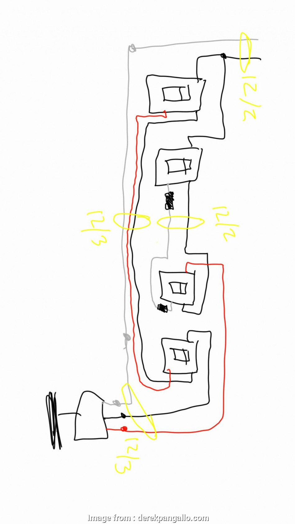 Ceiling  Reverse Switch Wiring Diagram Fantastic Hunter