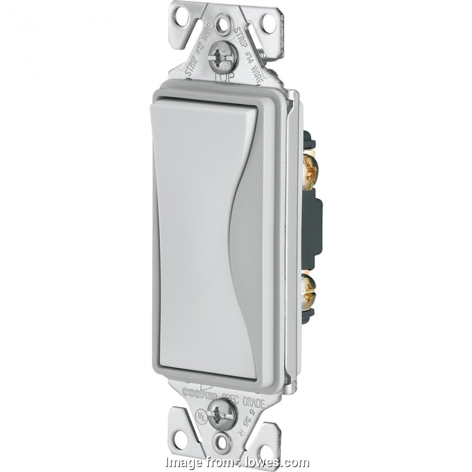 cooper switch wiring Shop Cooper Wiring Devices ASPIRE Single Pole White Satin Light 10 New Cooper Switch Wiring Ideas