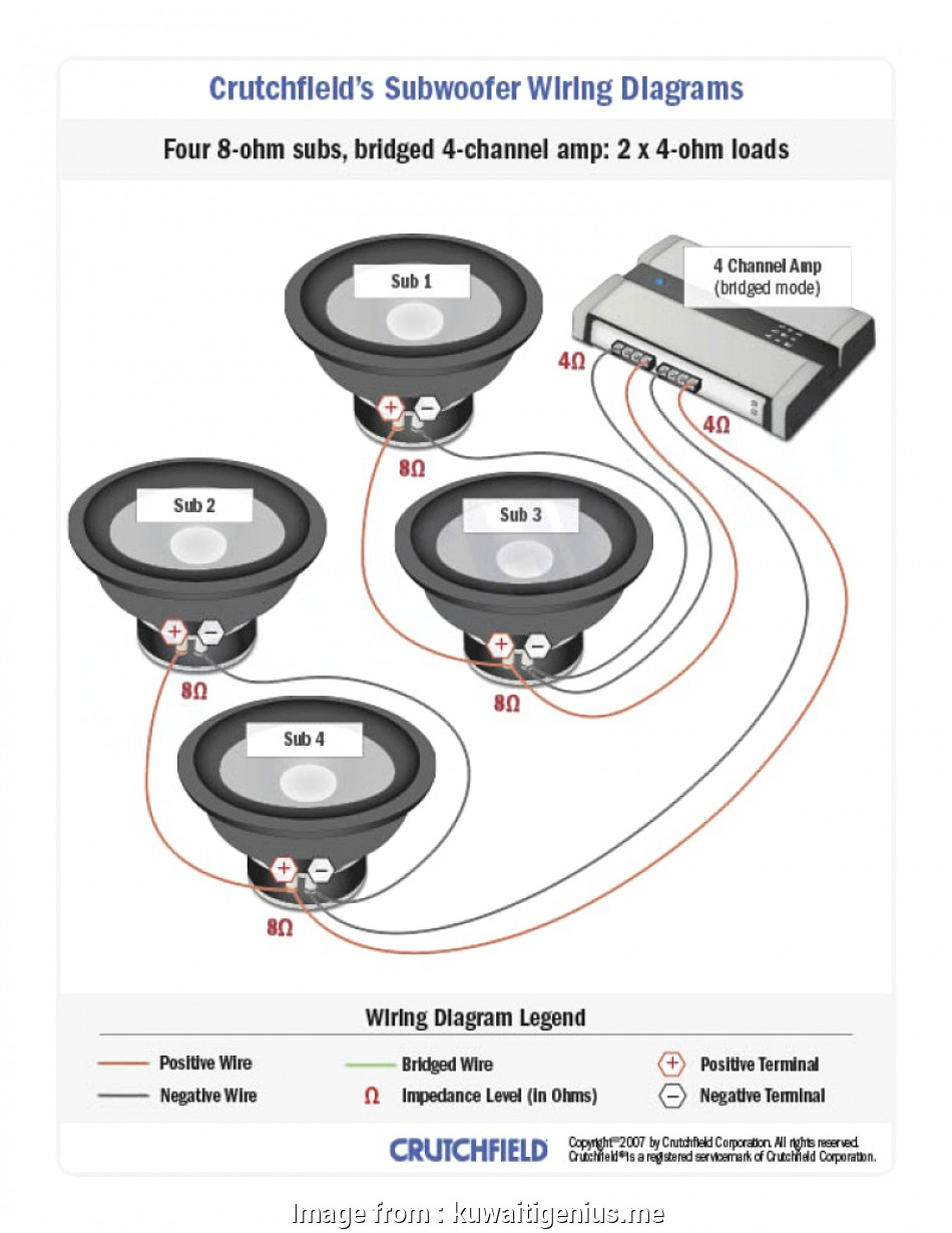 2 Channel Amp 4 Speakers Wiring Diagram
