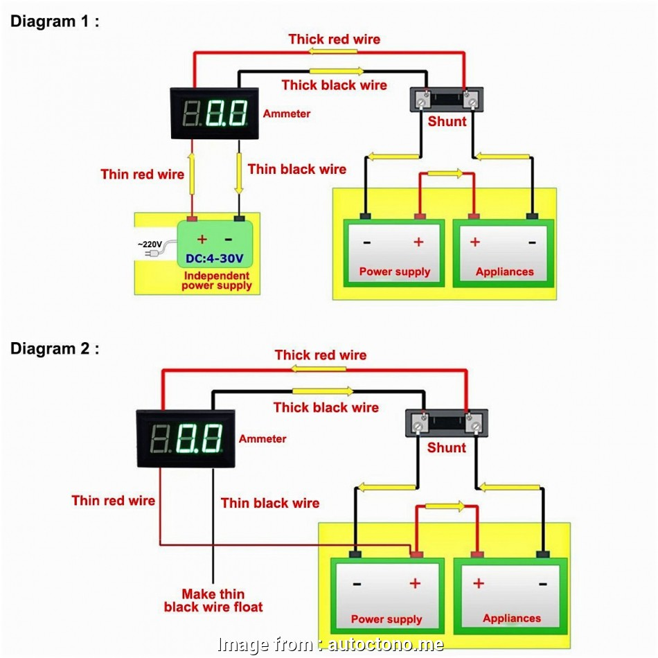 Digital Volt  Meter Wiring Diagram Perfect How To Wire A