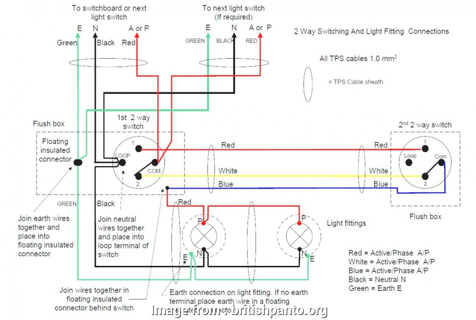 Double  Way Switch Wiring Most Two  Switch Connection