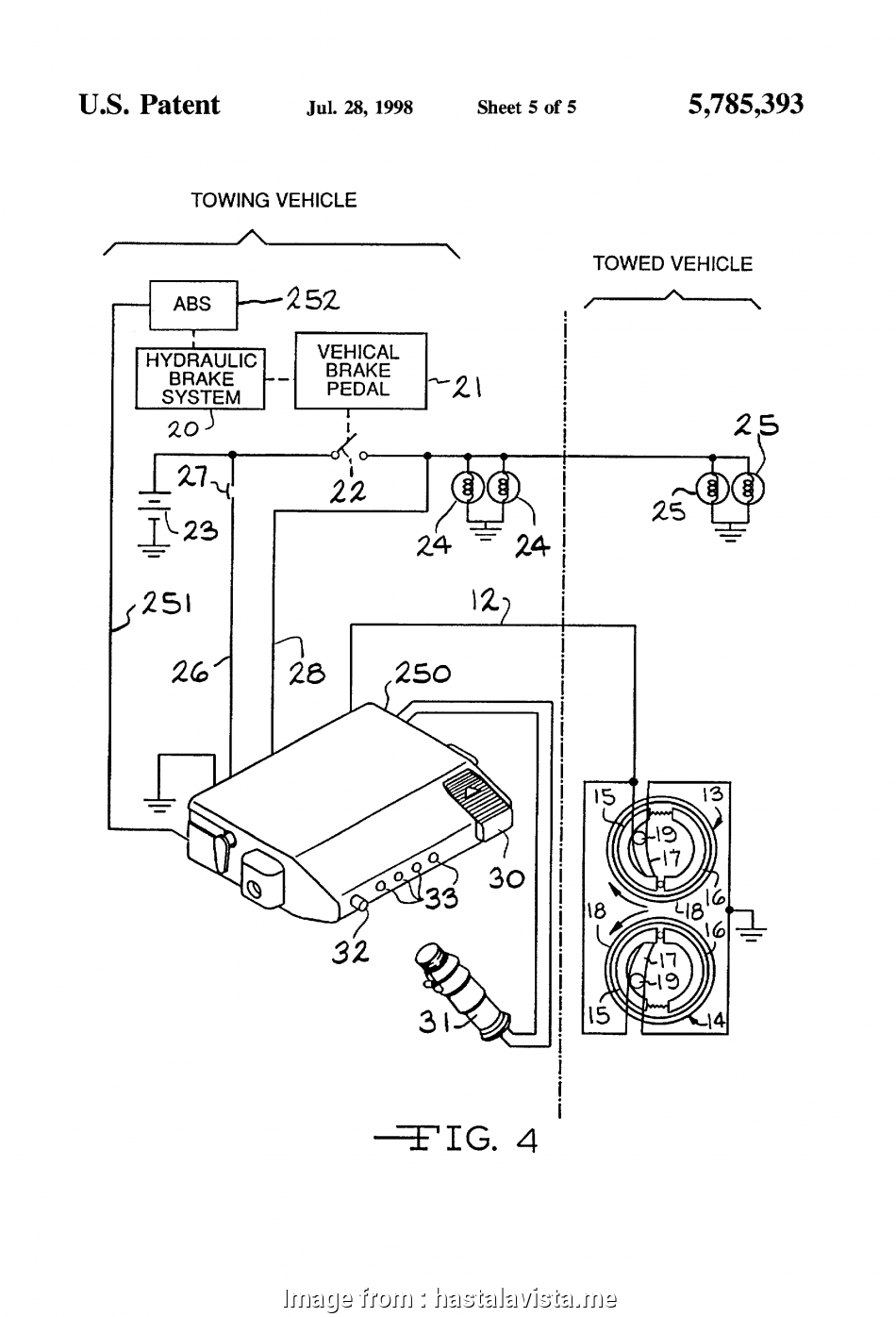 Electric Trailer Brake Wiring Diagram Nice Electric Trailer Brakes Wiring Diagram  7  And