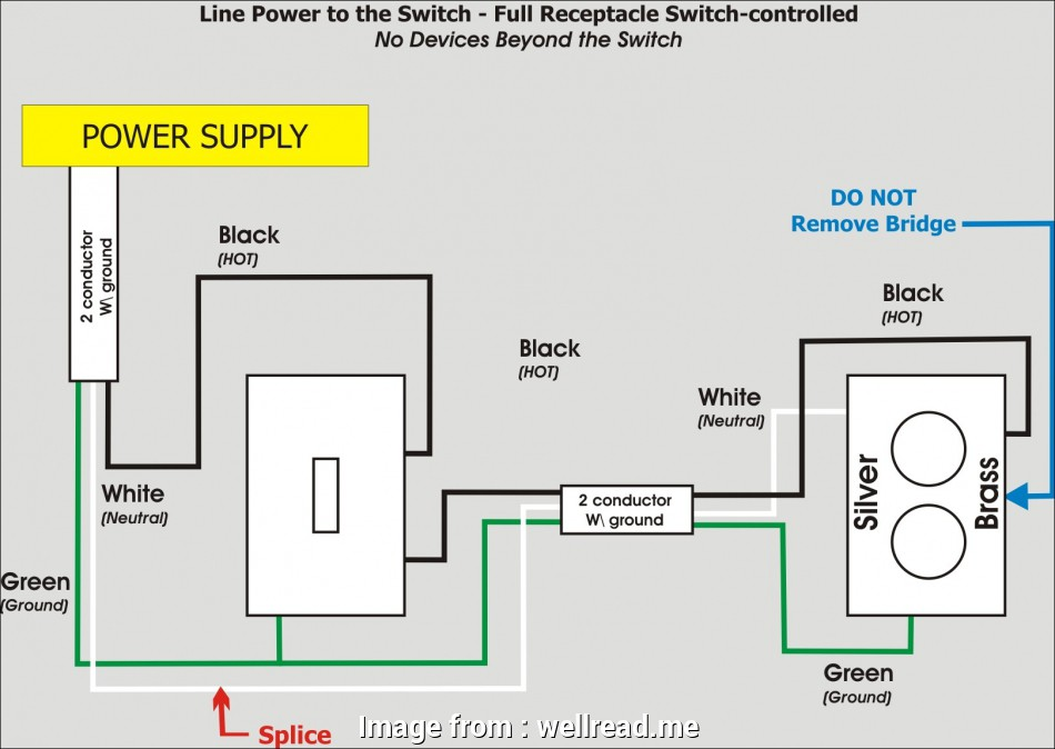 Electrical Outlet Without Wiring Nice Wiring Diagrams  Switch To Control A Wall Receptacle Do In