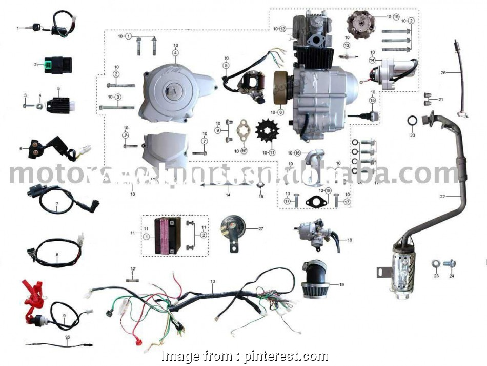 Electrical Wiring Colors In China Best Coolster 110cc  Parts Furthermore 110cc  Bike Engine