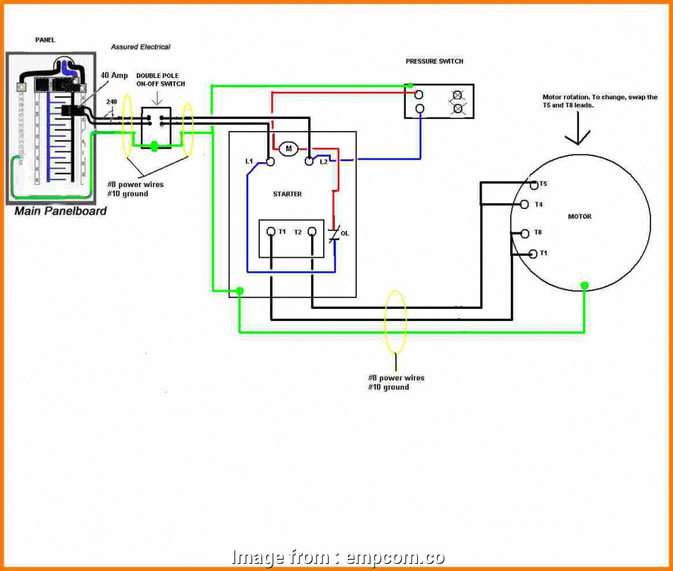 Electrical Wiring Diagram Of  Compressor Perfect 8