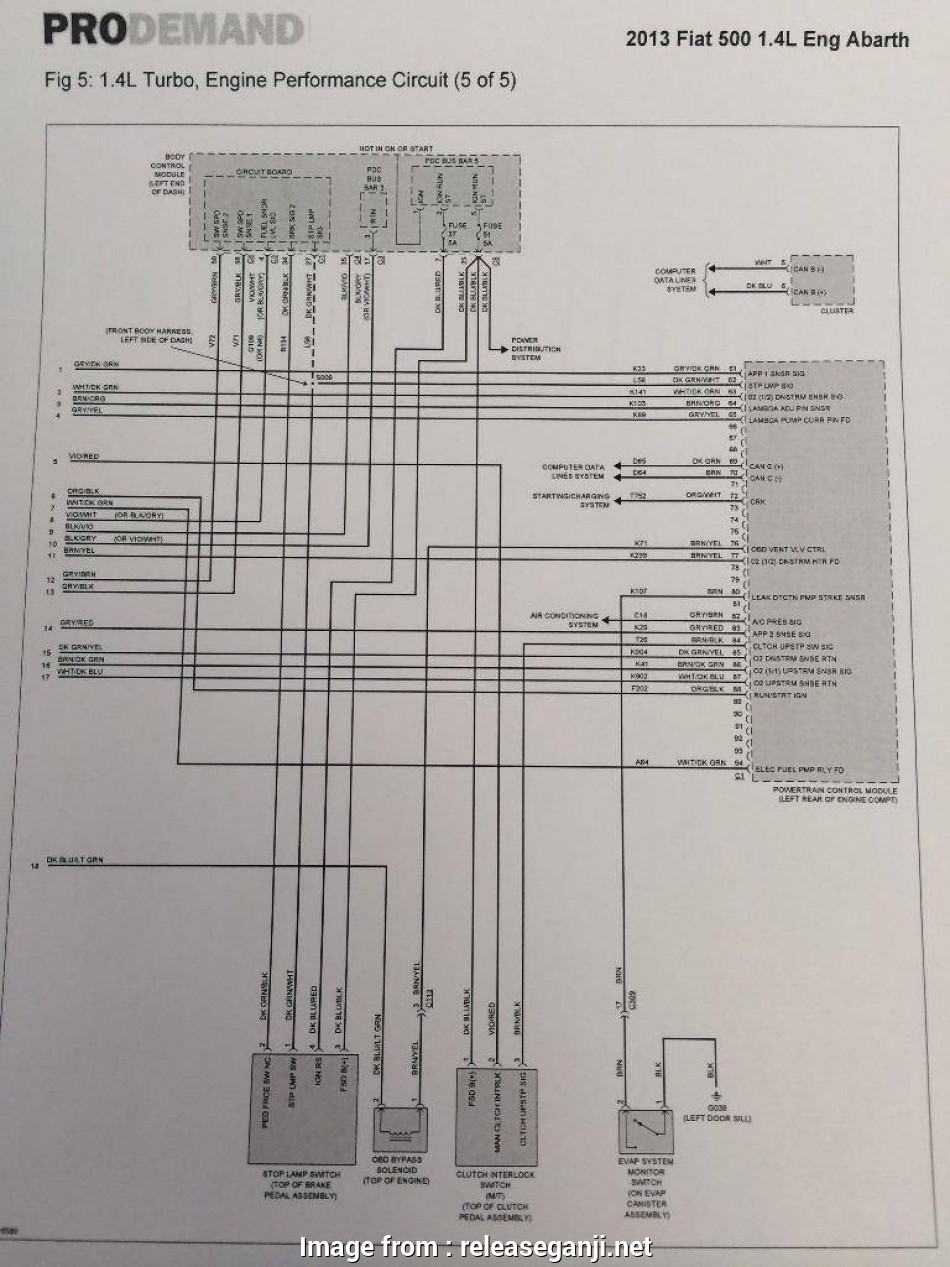 Fiat  Starter Wiring Diagram Simple 2012 Fiat  Wiring Diagram Diagrams Instructions Beauteous