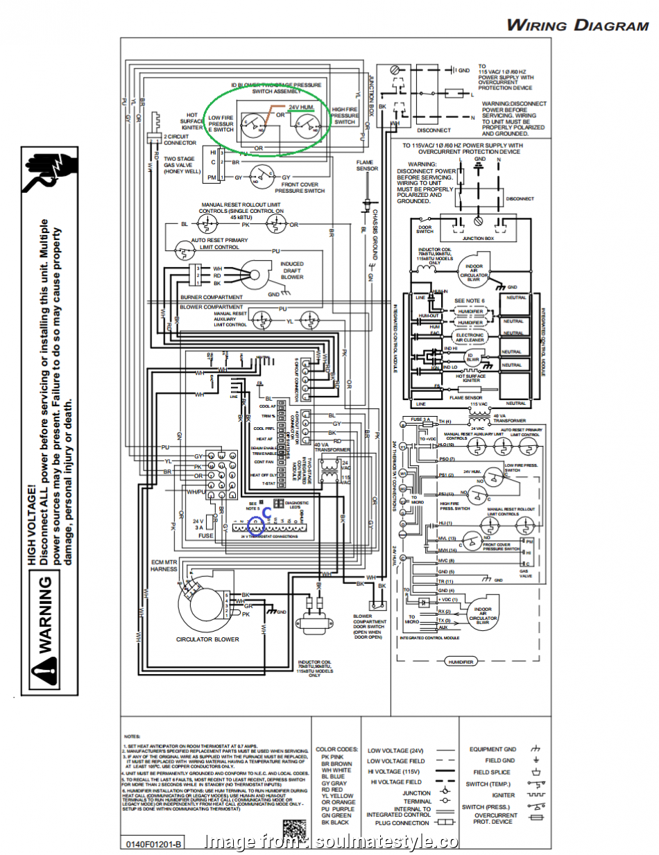 Furnace To Thermostat Wiring Diagram Perfect Ducane Furnace Wiring Diagram Volovets Info Rh