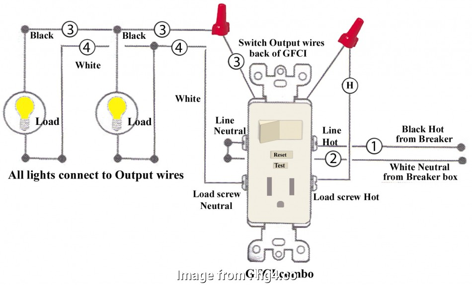 Gfci Outlet With Switch Wiring Diagram Best     Leviton Outlet Wiring Diagram Combination Switch
