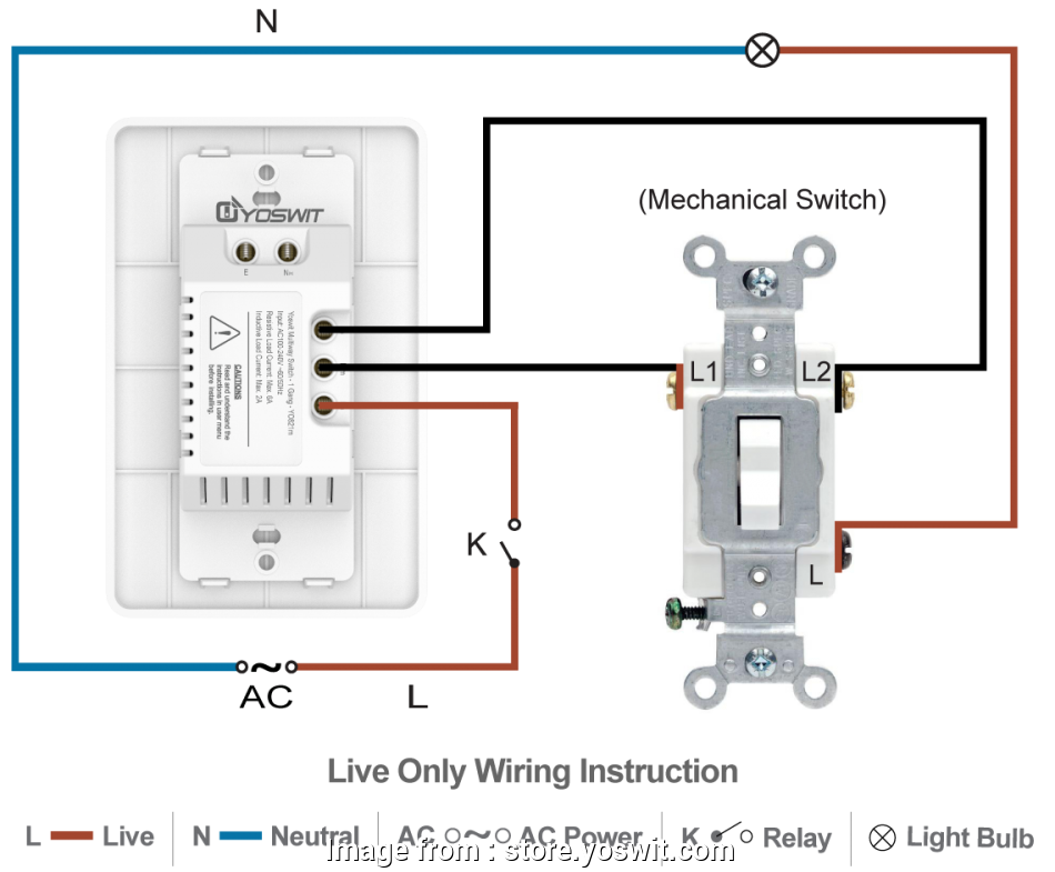 Home Automation Light Switch Without Neutral Wire Perfect