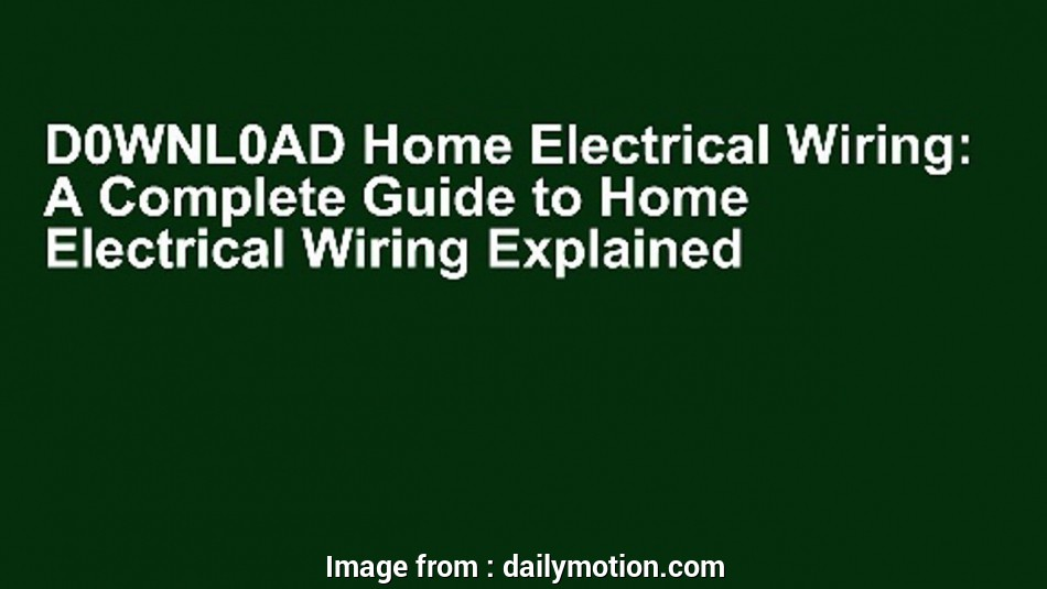 Home Electrical Wiring By David W Rongey Nice D0wnl0ad