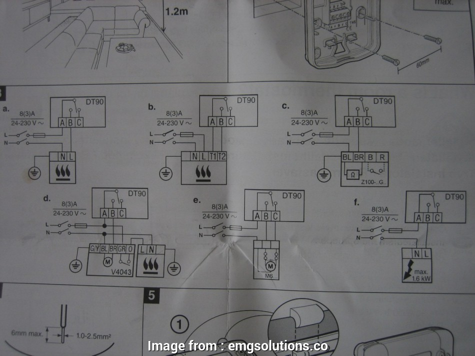 Honeywell Dt90e Room Thermostat Wiring Diagram Best Dt90e