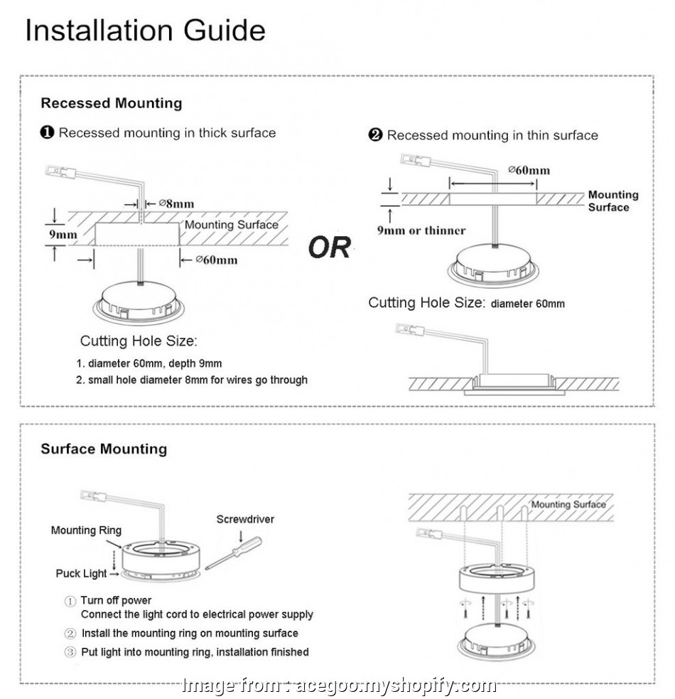 How To Install Recessed Puck Lights New     Acegoo Ultra