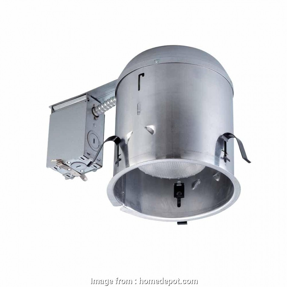 how to install remodel recessed light housing Commercial Electric 6, Aluminum Recessed IC Remodel Housing 9 Creative How To Install Remodel Recessed Light Housing Galleries