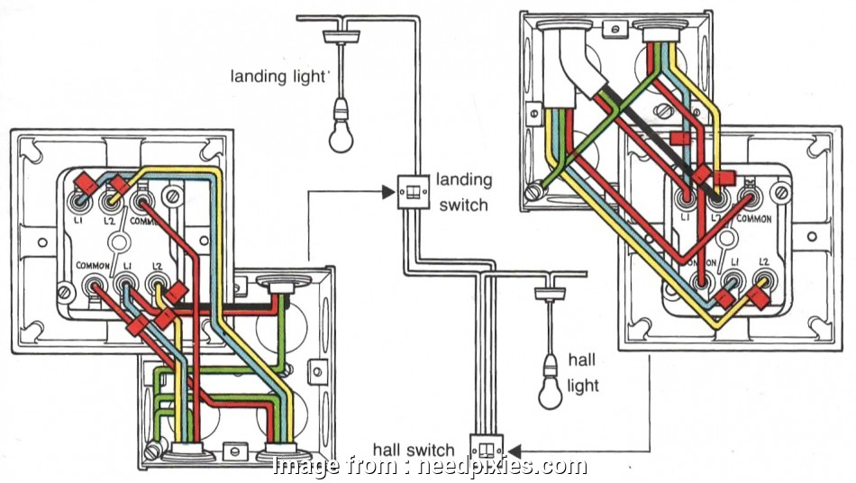 How To Replace  Way Light Switch Uk New Eagle Double Light