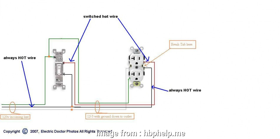 How To Wire 3  Electrical Outlet New Diagram Half Switched