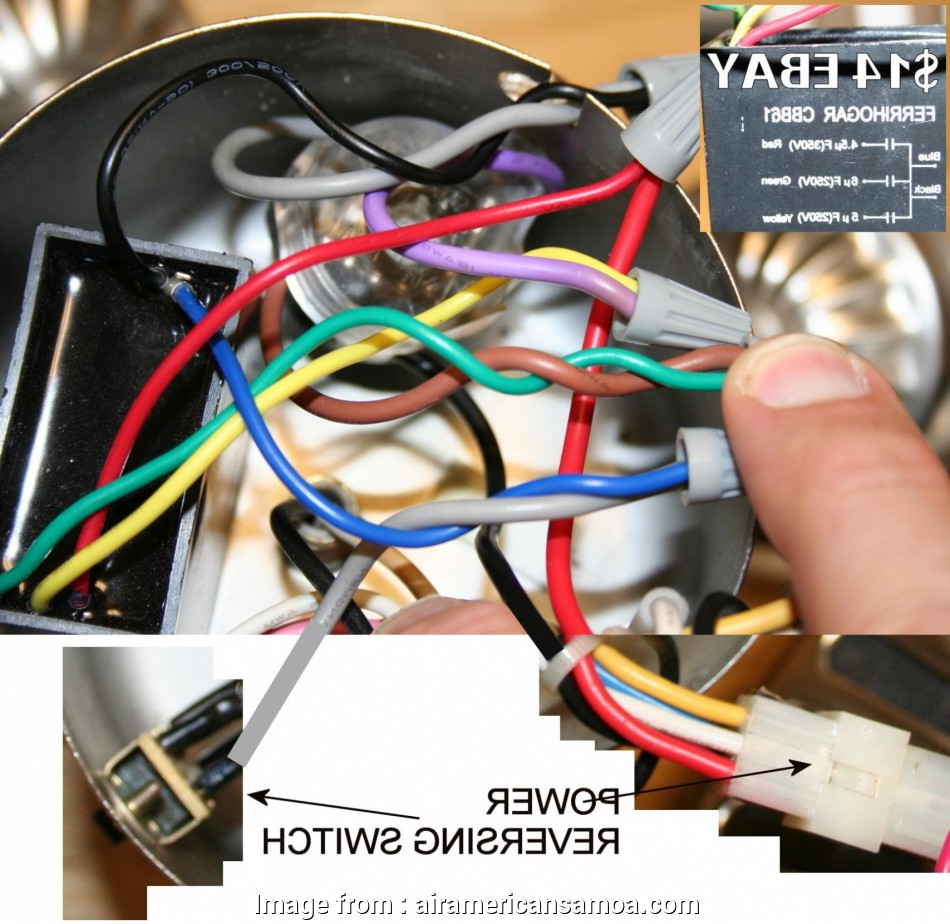 How To Wire A Light On A Ceiling Fan Practical How To Wire
