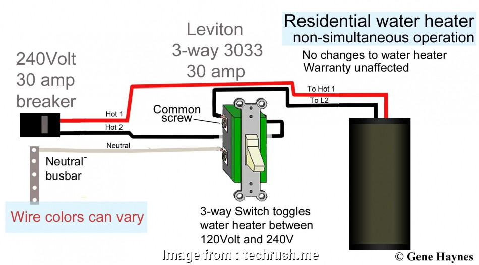 How To Wire Water Heater For 120 Volts Wiring Diagram