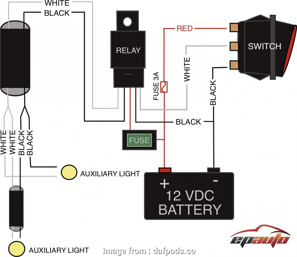 How To Wire A  Light  Without Relay Simple Wiring Diagram