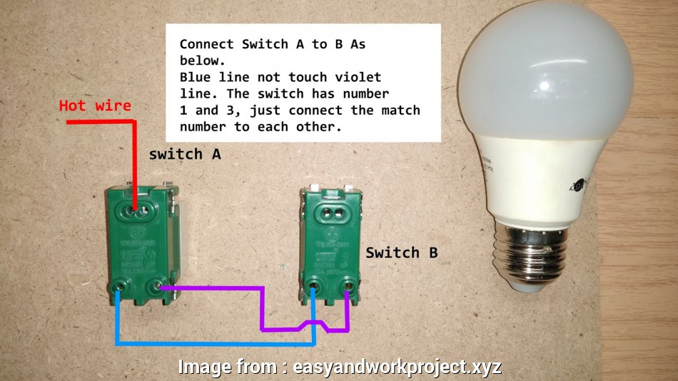 How To Wire A Regular Light Switch Brilliant Two Ways Light Switch Wiring Diagram Galleries