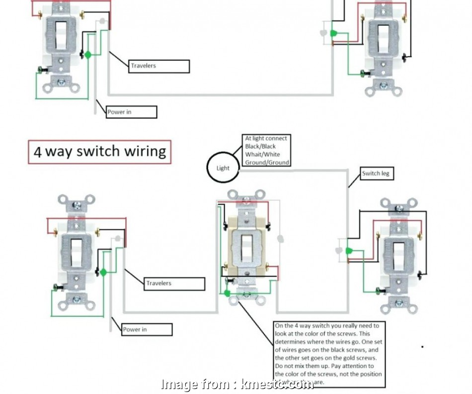 How To Wire A Three  Switch With 4 Lights Nice 4  Switch