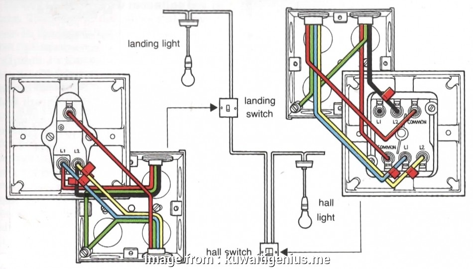 How To Wire  A  Way Switch Cleaver 2  Switch 3 Wire System  Harmonised Cable Colours Light